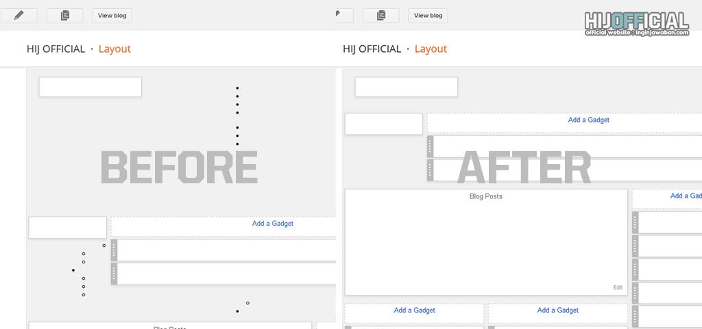 contoh tampilan layout blog acak acakan