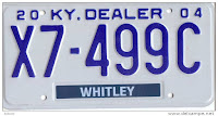 Now this is a dealer plate