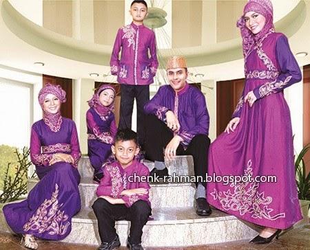 Foto Gambar Model Baju Lebaran Keluarga