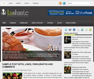 Lashante-Blogger-Template