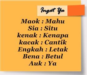 Bahagian 6 : Bahasa Melayu Sarawak