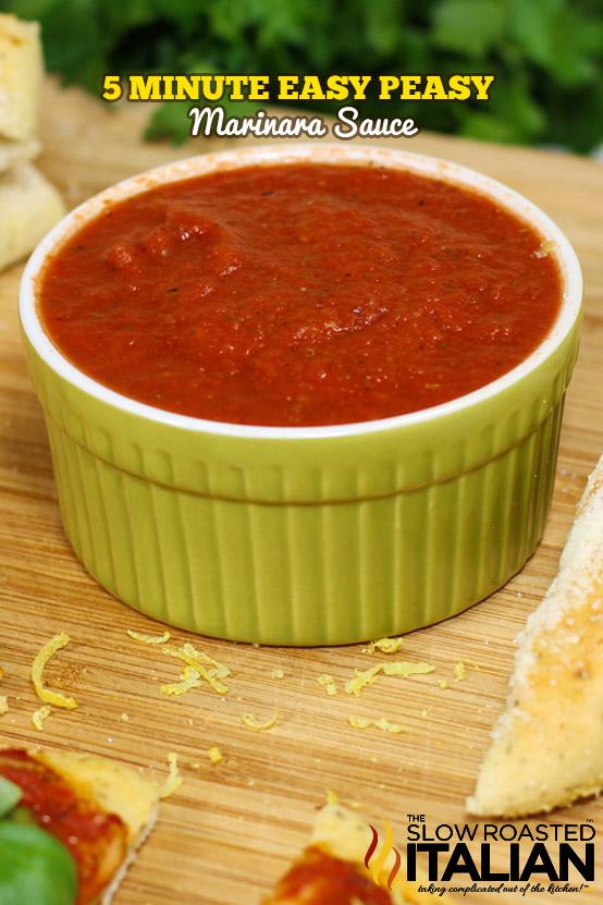 5 Minute Marinara Sauce