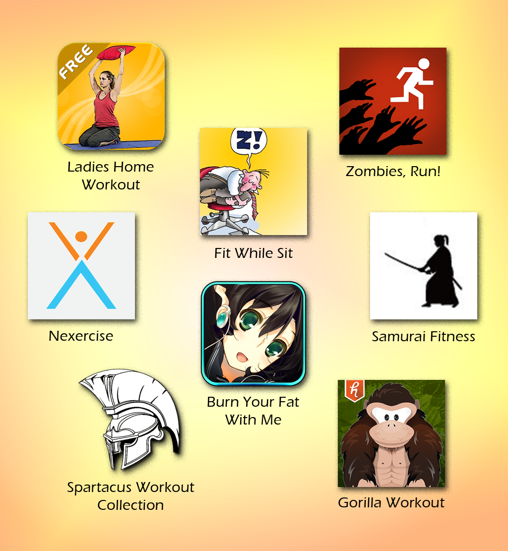 All the geektastic exercise apps I've found