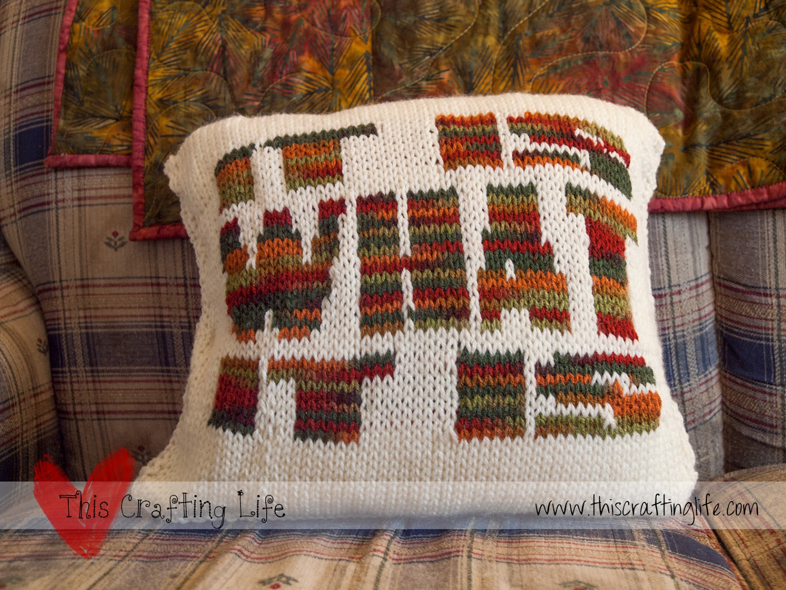 This Crafting Life: It Is What It Is Pillow {Knit/Crochet Chart}