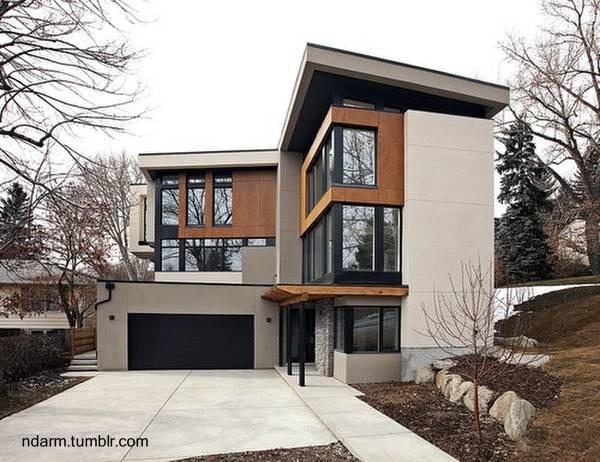 Residencia contemporánea familiar de 3 plantas en forma de L