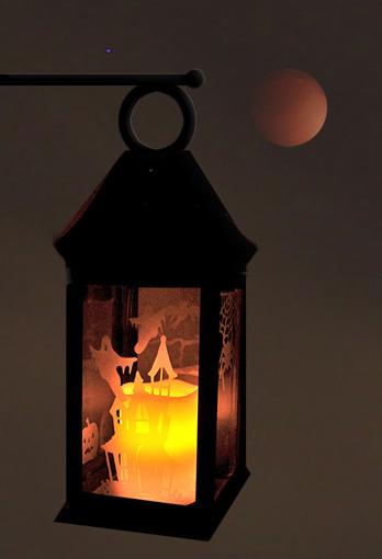 Life In The Craft Lane Halloween Lantern