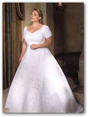 Vestido de novia para gorditas mangas cortas