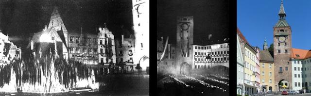 """Schöner Turm"" with swastikas"