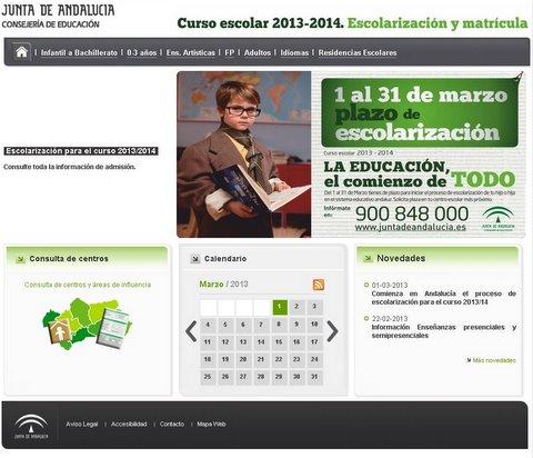Fapace blog de almer a escolarizaci n 2013 14 portal for Consejeria de educacion junta de andalucia