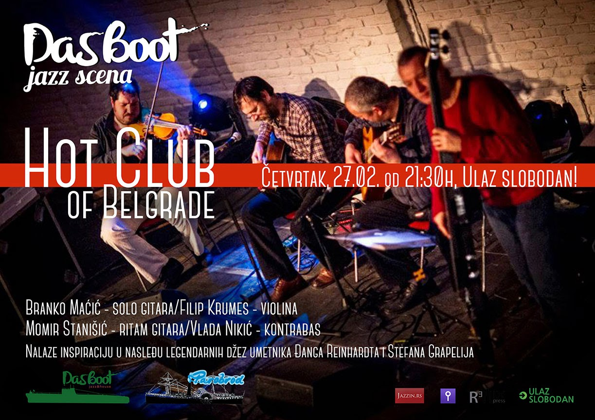 Hot club of Belgrade - konert na sceni Das Boot (UK Parobrod)