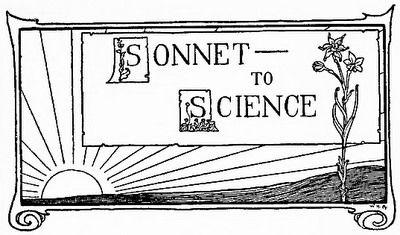 Edgar Allan Poe Sonnet to Science