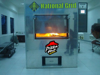 Durham Crematorium have joined with the National Grid and Pizza Hut