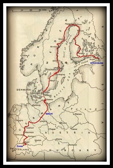 itinerario tren lenin trip