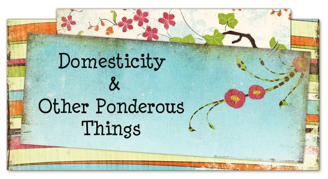 Domesticity and.... Other Ponderous Things