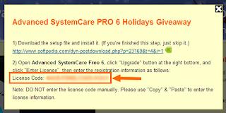 licença advanced systemcare pro 6 2013