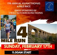 4 miler in Kilmacthomas, Waterford... Sun 17th Feb 2019