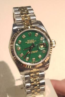 Rolex DJ with jade dail