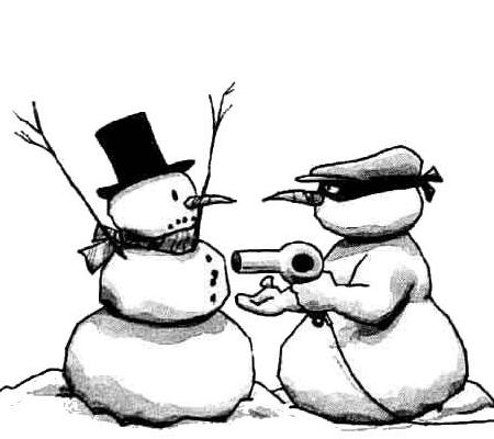 Snowman robber