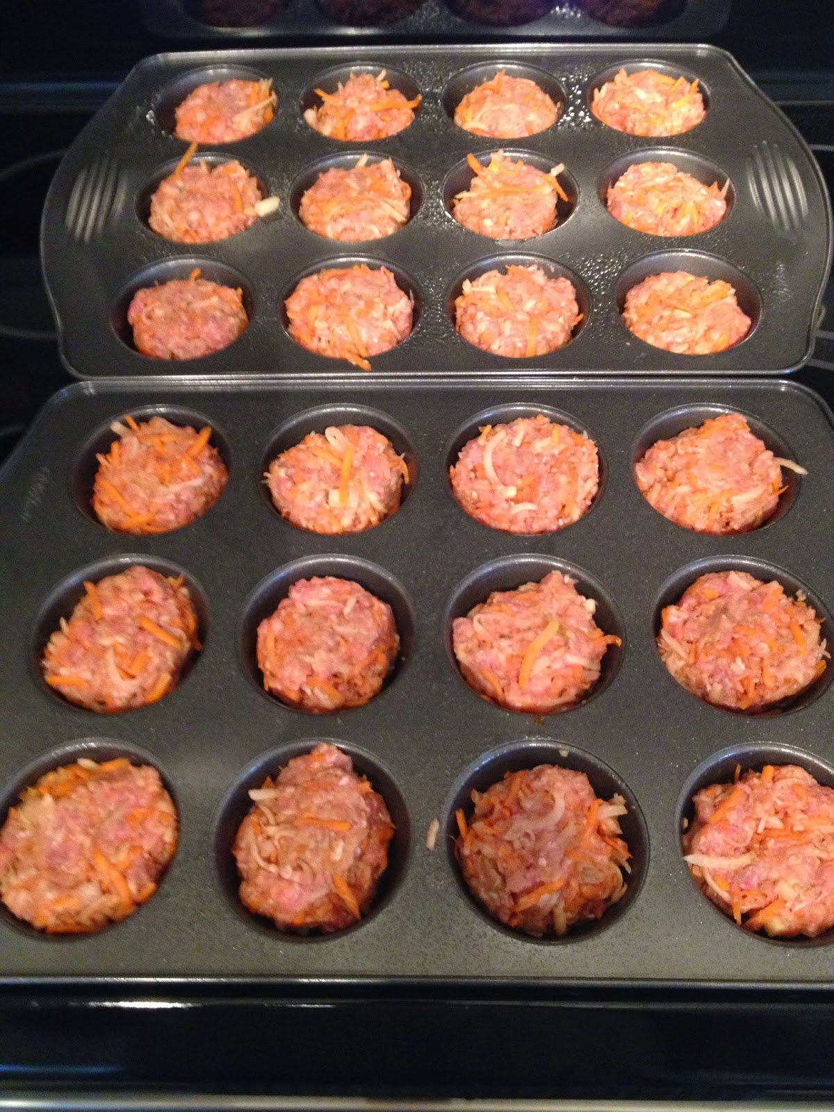 Milo's homemade dog food - meatloaf patties