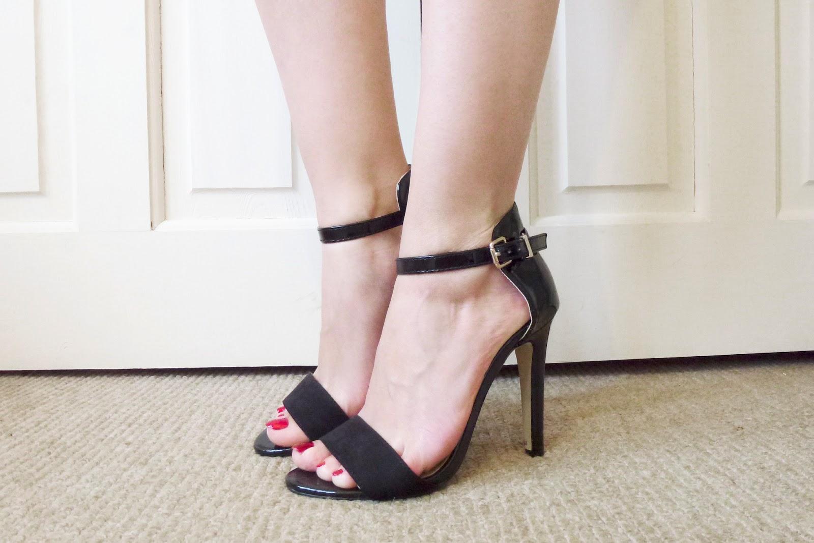 Black sandals primark - Primark Ankle Strap Heels