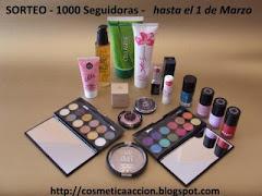 Sorteo 1000 seguidores en el blog Cosmetica en Acción.