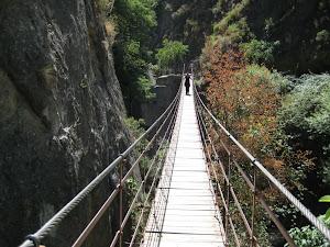 Los Cahorros, que miedo de puente!!!