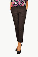 Pantaloni negri din bumbac D1902C (Ama Fashion)