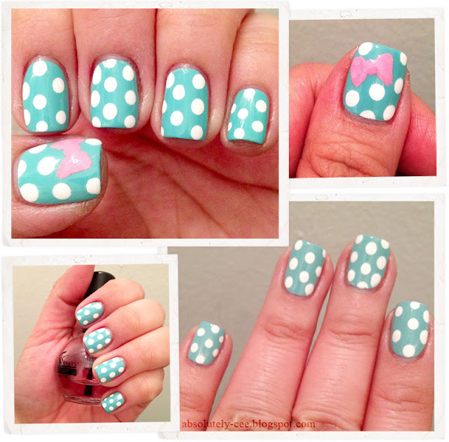 Lobster Claw Polka Dot Bow