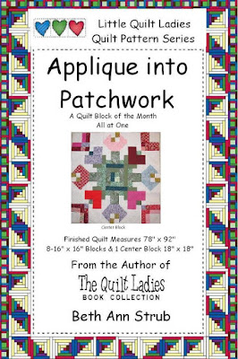 Applique into Patchwork quilt pattern digital download pattern