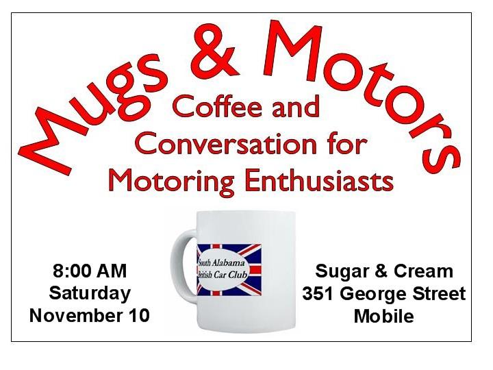 Positive earth mugs motors november 10th for Mcd motors mobile al