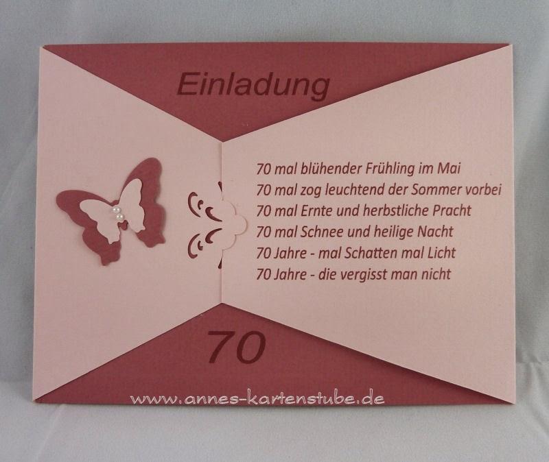 Annes kartenstube einladungen zum 70 geburtstag - Ideen zum 70 geburtstag ...