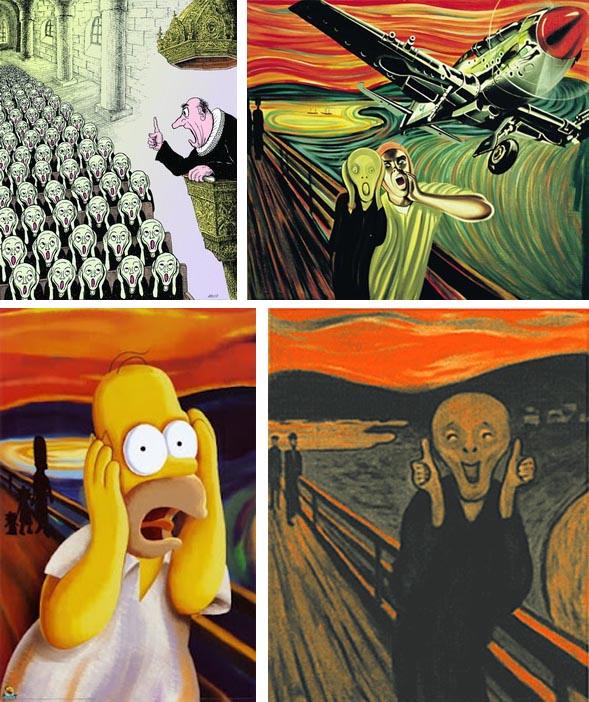 Parodies Of Munchs Scream