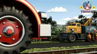 Fire brigade truck Flynn Thomas the tank engine big yellow lorry Butch recovery vehicle crew team