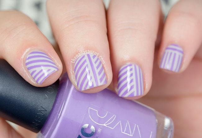 31DC2015: Purple Candy Stripes