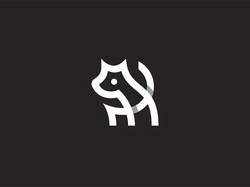 Overlapping technique Logo Doggy Mark