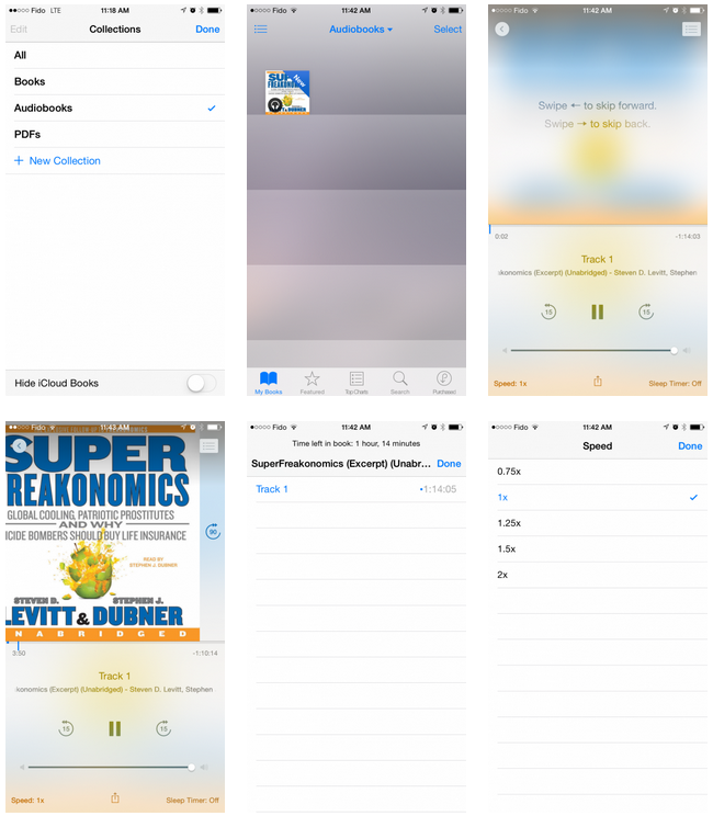 Apple iOS 8.4 Audiobooks App Features