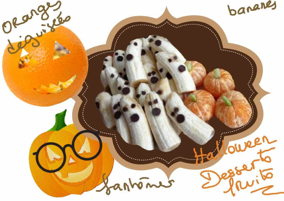 Street Food, Cuisine Du Monde: Recette De Desserts Aux Fruits Pour Halloween (bananes, Oranges