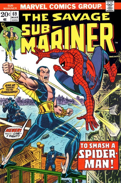 Savage Sub-Mariner #69, Spider-Man