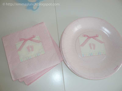 baby shower plates and napkins