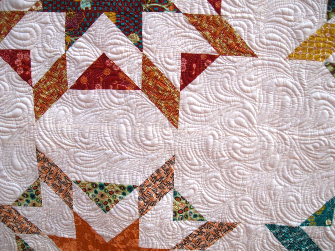 free motion quilting echoed paisleys