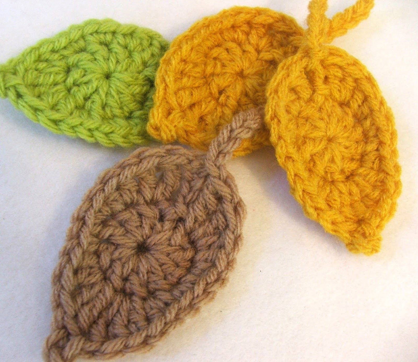 Susans Hippie Crochet: Free Simple Leaf Crochet Pattern - The Leaves ...