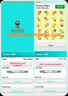 BBM Mod Free Sticker Android 4.0 Versi 2.2.1 Terbaru