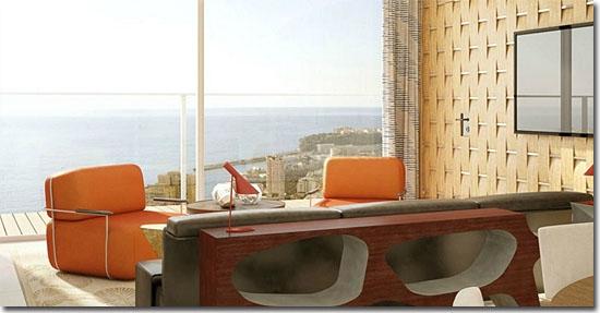 Edifício Tour Odéon em Mônaco - Apartamento mais caro do mundo - Vista