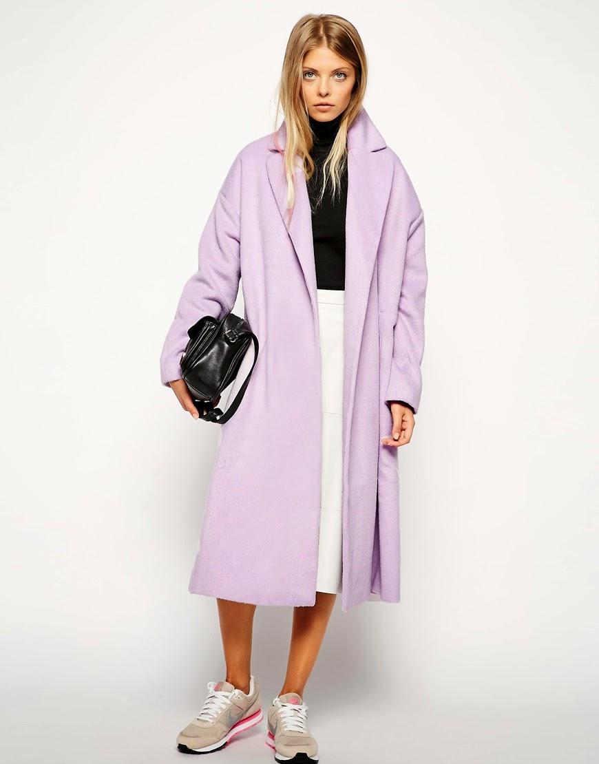 pastel large coat women