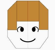 Bước 7: Vẽ mắt, vẽ mồm để hoàn thành cách xếp mặt em bé gái bằng giấy