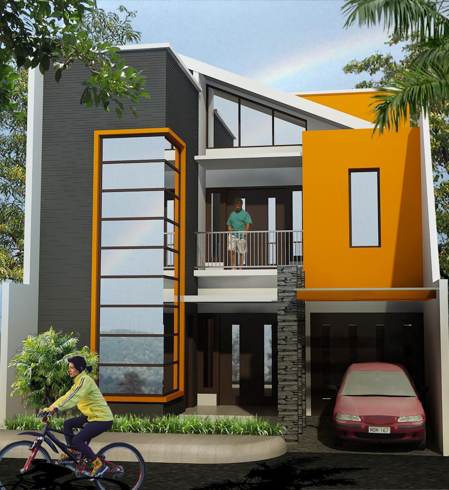 rumah minimalis modern 2 lantai 2014