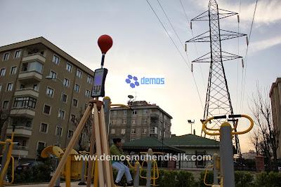 Enerji nakil hattı, elektrik kabloları yakınında yer alan alanlarda elektromanyetik radyasyon ölçümü