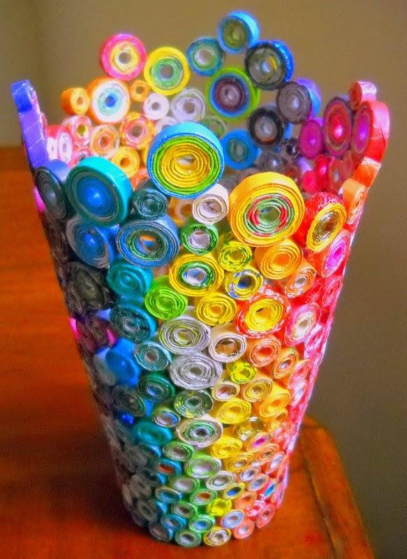 Вазочка для конфет своими руками из бумаги