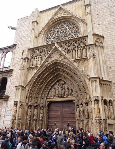 Catedral de Valencia, puerta de los Apóstoles.