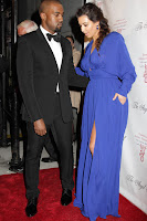 Kim Kardashian and Kanye West at Angel Ball 2012